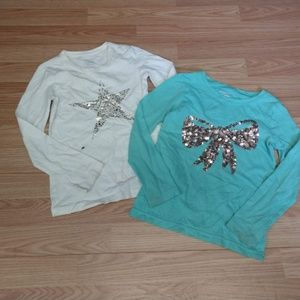 Girls size 6/6X long sleeve tops